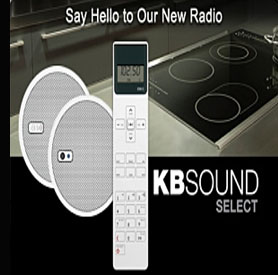 KBsound discrete radio for kitchens and bathrooms